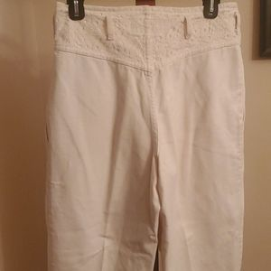 Vintage Cream Cottagecore Denim Pants